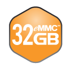 32 GB eMMC Flash Memory