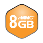 8 GB eMMC Flash Memory